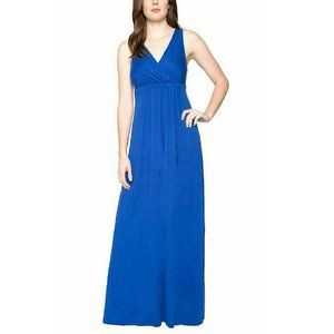 Matty M Women's Crossover V-Neck Pull Over Maxi